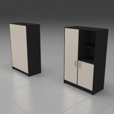 Шкаф 2 секции с открытой полкой